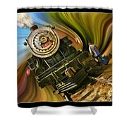 Historical Niles Southern Pacific 2472 Steam Engine 1921  Shower Curtain