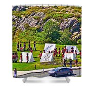 Historical Reenactment Near Visitor's Center In Signal Hill National Historic Site In St. John's-nl Shower Curtain