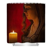 Historical Woman Holding A Candle Shower Curtain