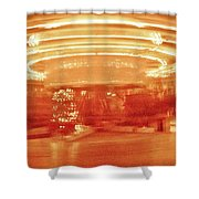 History In Motion At Night Shower Curtain