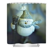 Hit The Slopes Shower Curtain
