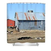 Hitching The Wagon Shower Curtain