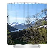 Hjorundfjord From Slogan Shower Curtain