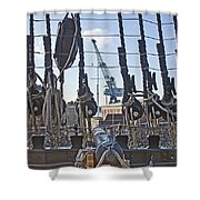 Hms Victory Cannon Shower Curtain