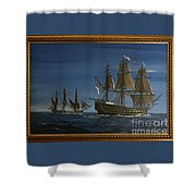 Hms Victory Dawn Shower Curtain
