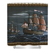 Hms Victory Early Wind Shower Curtain