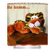 Ho Hummm Tiger Shower Curtain