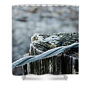 Hoar Frost At Sun Up Shower Curtain