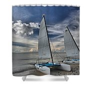 Hobie Cats On The Caribbean Shower Curtain