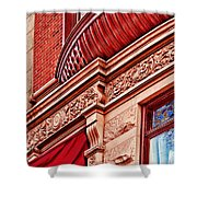 Hoboken Brownstone Art Shower Curtain
