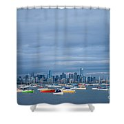Hobsons Bay Shower Curtain