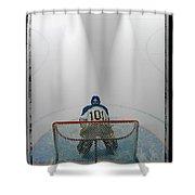Hockey Goalie In Crease Shower Curtain