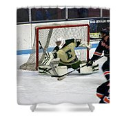 Hockey Off The Handle Shower Curtain