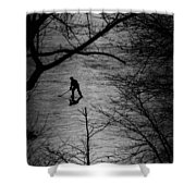 Hockey Silhouette Shower Curtain