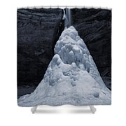 Hocking Hills State Park In Winter Shower Curtain by Dan Sproul