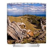 Hoe-down At The Top Of The World Shower Curtain