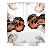 Hofner Bass Abstract Shower Curtain