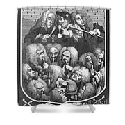 Hogarth: Physicians, 1736 Shower Curtain