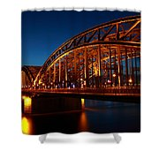 Hohenzollern Bridge Shower Curtain