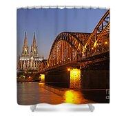 Hohenzollernbrucke In Cologne Shower Curtain
