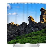 Hoher Stein Kraslice Czech Republic Shower Curtain by Aged Pixel