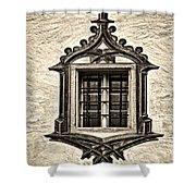 Hohes Schloss Window Shower Curtain