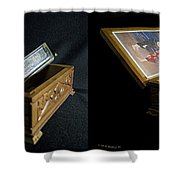 Hohner Chromonica - Cross Your Eyes And Focus On The Middle Image Shower Curtain