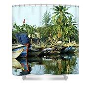 Hoi An Fishing Boats 01 Shower Curtain