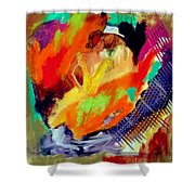 Hold Me In Your Arms Like A Spanish Guitar Shower Curtain by Keith Thue
