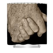 Hold My Hand Shower Curtain