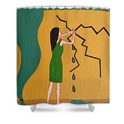 Holding Back The Flood Shower Curtain by Patrick J Murphy