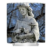 Holding Memorial Flowers Shower Curtain