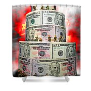 Holding The Financial Fort Shower Curtain