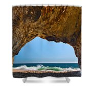 Hole In The Wall - Natural Tunnel In Santa Cruz Shower Curtain