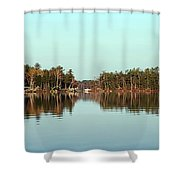 Hole In The Wall Shower Curtain by Skip Willits