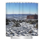 Holeman Spring Basin Shower Curtain