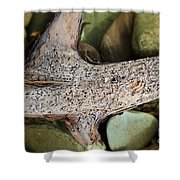 Holey Driftwood Shower Curtain