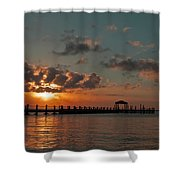 Holgate Bay Sunset Shower Curtain