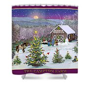 Holiday At Campton Farm New Hampshire Shower Curtain