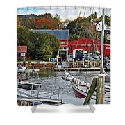 Holiday At Rockport Shower Curtain