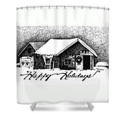 Holiday Barn Shower Curtain