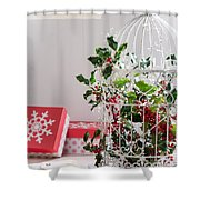 Holiday Birdcage Shower Curtain