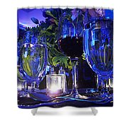 Holiday Blues Shower Curtain