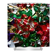 Holiday Bows Shower Curtain