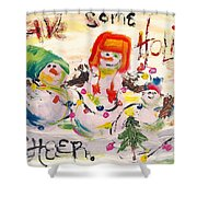 Holiday Cheer Shower Curtain