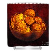 Holiday Citrus Bowl  Shower Curtain
