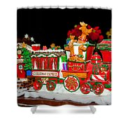 Holiday Express Shower Curtain