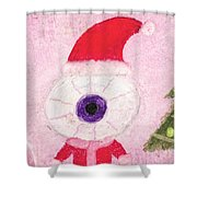 Holiday Eye Shower Curtain