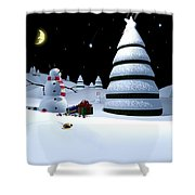 Holiday Falling Star Shower Curtain by Cynthia Decker