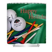 Holiday Golf Shower Curtain